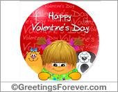 Ecard - Valentines Day with a red circle