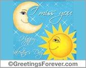 Greeting ecards: Sun and Moon
