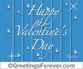 Greeting ecards: Valentines Day ecard in blue