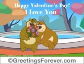 Greeting ecards: I love you with bear couple