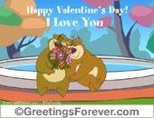 I love you with bear couple
