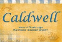 Name Caldwell