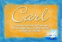 Name Carl