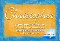Name Christopher