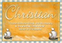 Name Christian