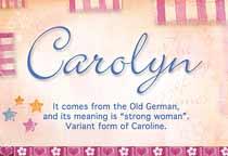 Name Carolyn
