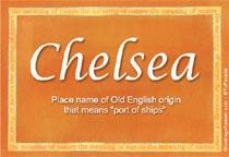 Name Chelsea