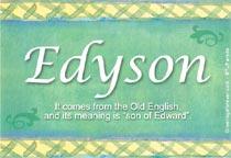 Name Edyson