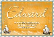 Name Edward