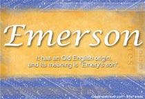 Name Emerson