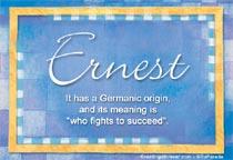 Name Ernest