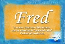 Name Fred