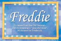Name Freddie