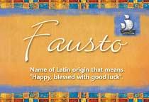 Name Fausto