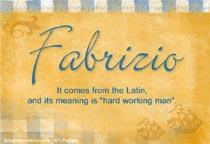 Name Fabrizio