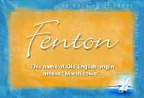 Name Fenton