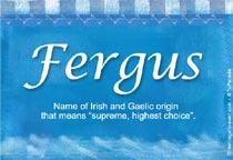 Name Fergus