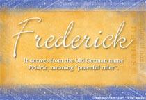 Name Frederick