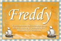 Name Freddy