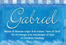 Name Gabriel