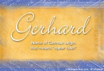 Name Gerhard