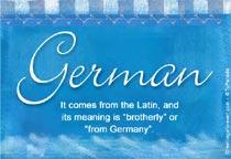 Name German