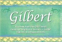 Name Gilbert