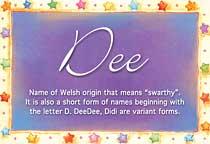 Name Dee