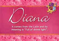 essay about the meaning of the name diana