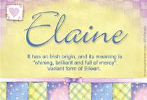 Name Elaine