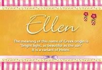 Name Ellen