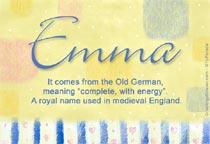 Name Emma