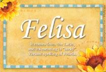 Name Felisa