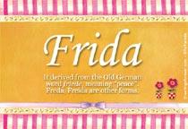 Name Frida