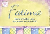 Name Fatima