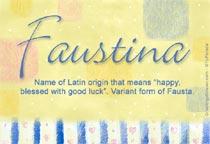 Name Faustina