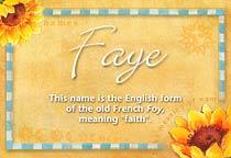 Name Faye