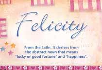 Name Felicity