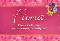 Name Fiona