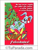 Humor de fin de año - Tarjetas postales: No hay mejor regalo...