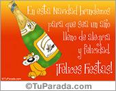 Humor de fin de año - Tarjetas postales: Brindemos por un año de felicidad