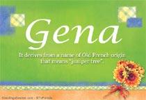 Name Gena