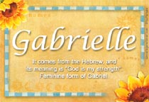 gabrielle name meaning gabrielle name origin name