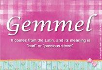 Name Gemmel