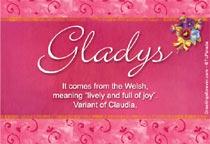 Name Gladys