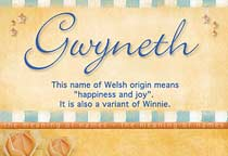 Name Gwyneth