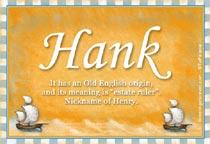 Name Hank