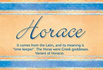 Name Horace