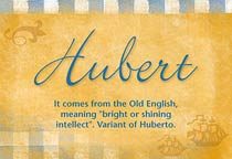 Name Hubert