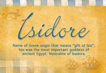 Name Isidore